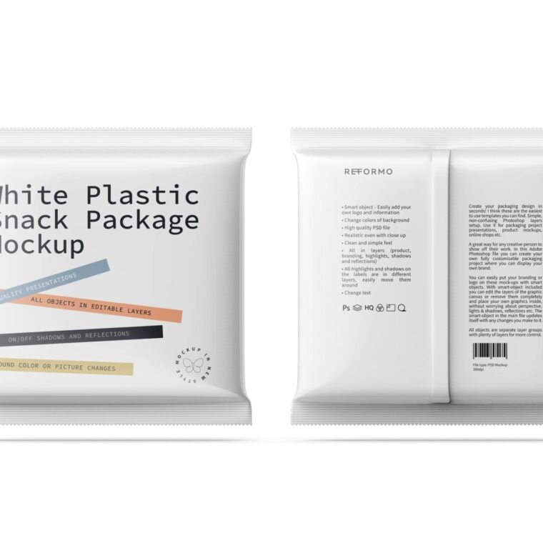 Premium Small Plastic Packet Mockup