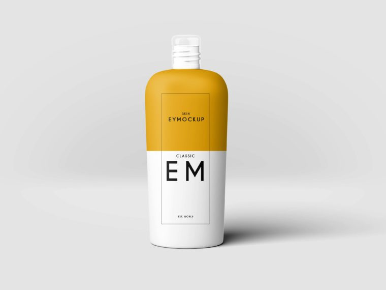 Shampoo Bottle Label Mockup