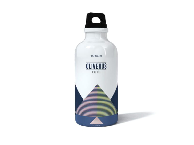 Warm Water Bottle Label Mockup