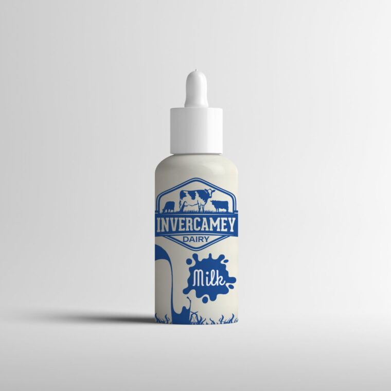 Baby Milk Bottle Label Mockup