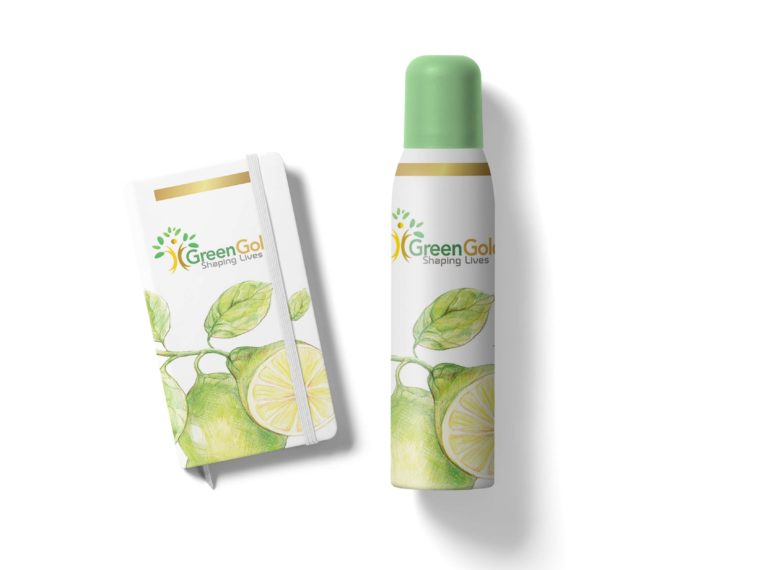 Deodorant Bottle Label Presentation Mockup