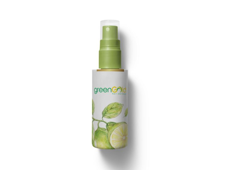 Fruit Hair Oil Spray Bottle Label Mockup