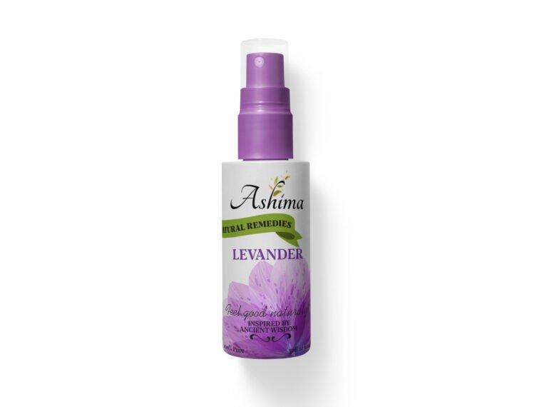 Lavender Spray Bottle Label Mockup