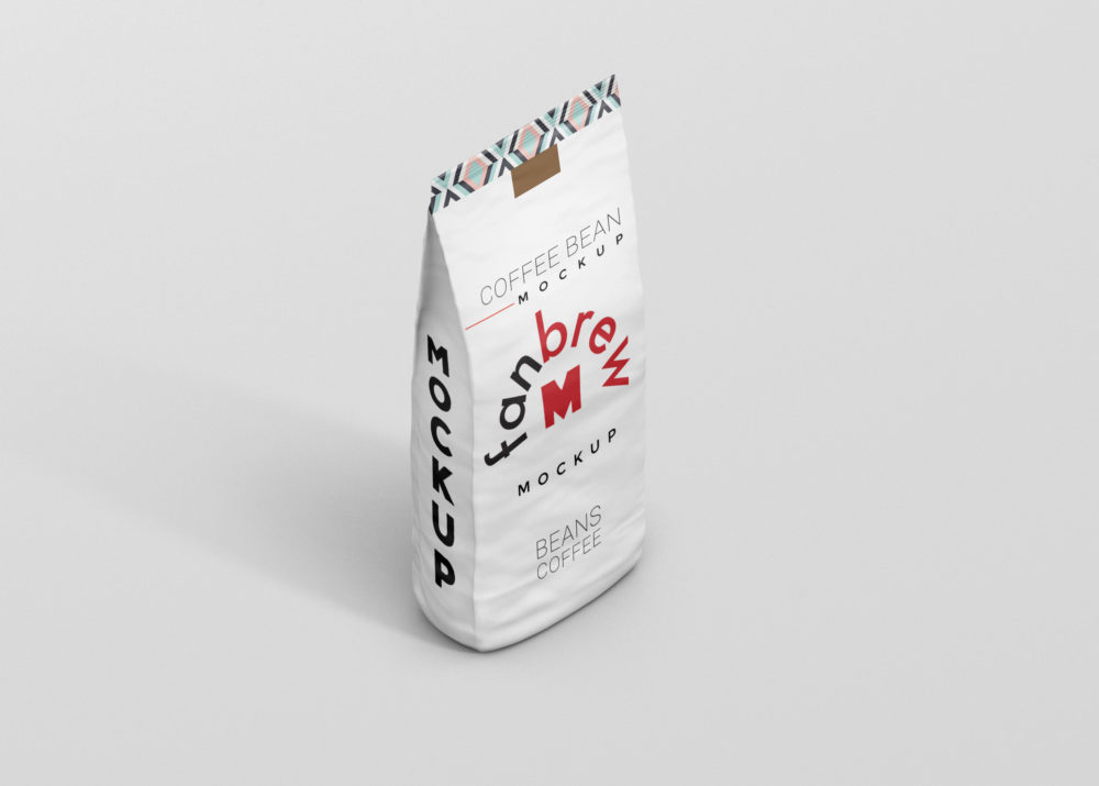 Modern Paper Bag Label Mockup