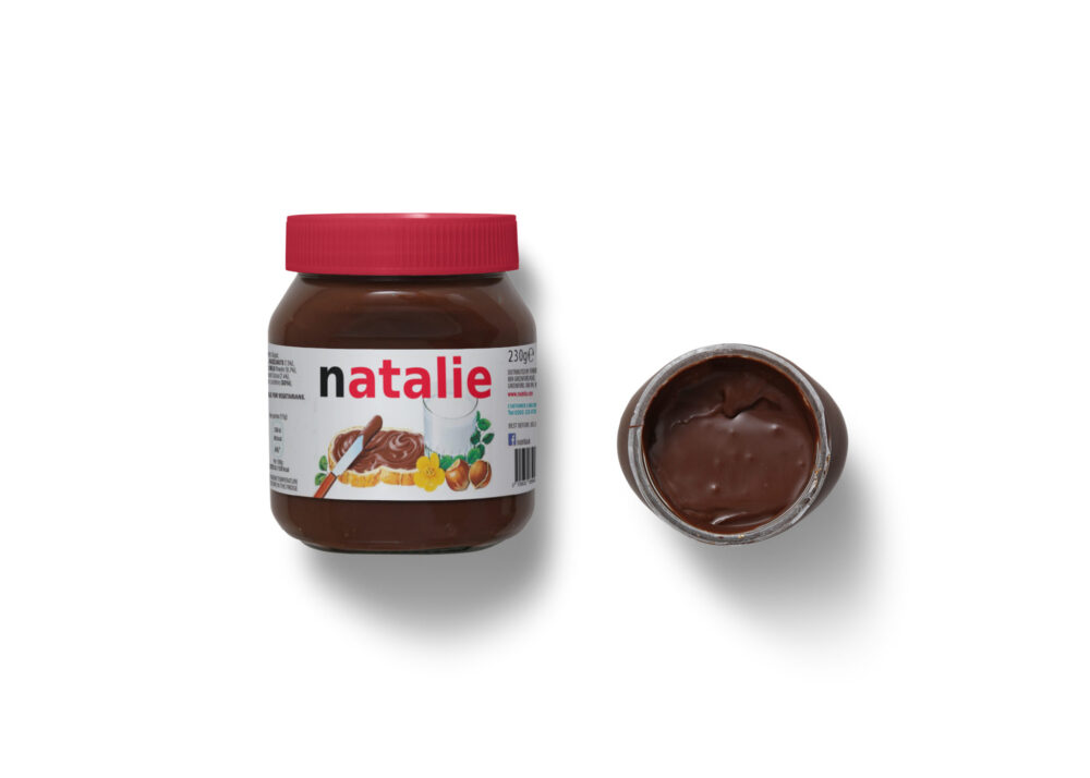 Natalie Melt Chocolate Packaging Label Mockup