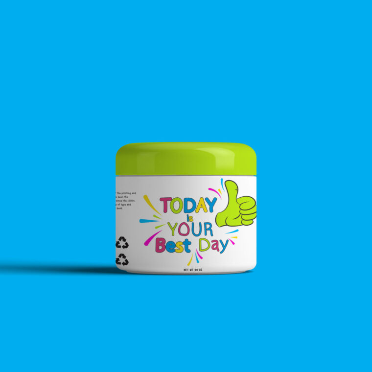 New Body Scrub Packaging Mockup