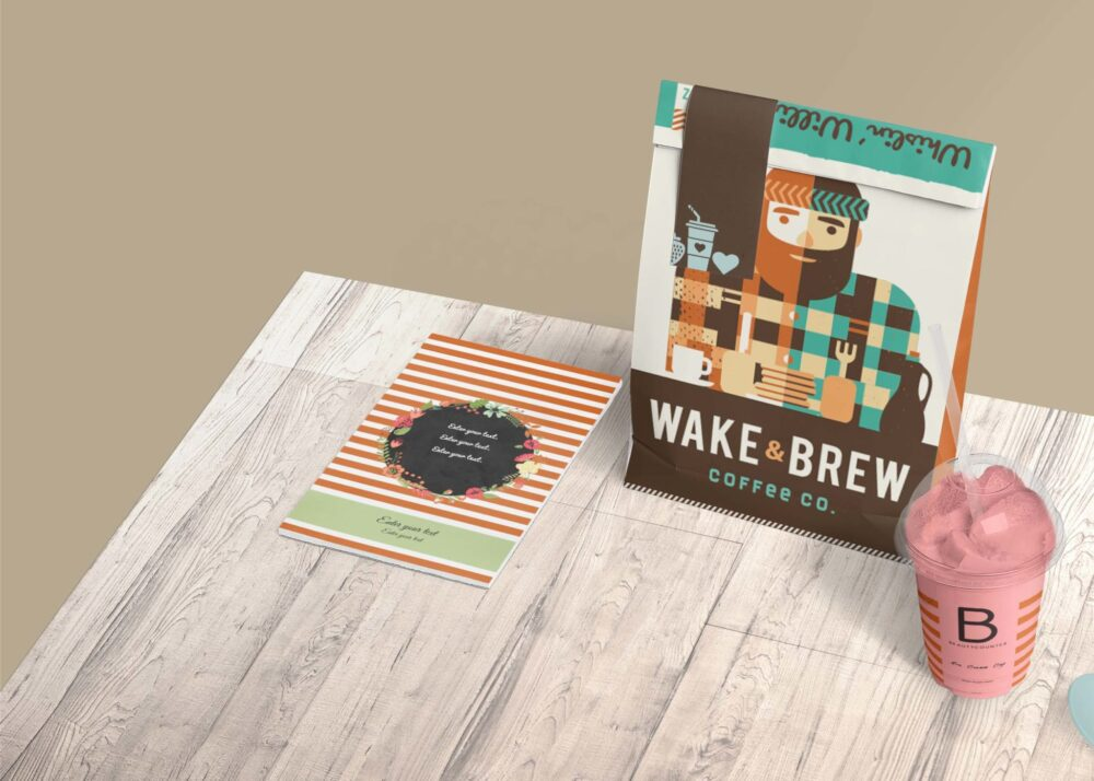 New Coffee Packaging Pouch Label Mockup