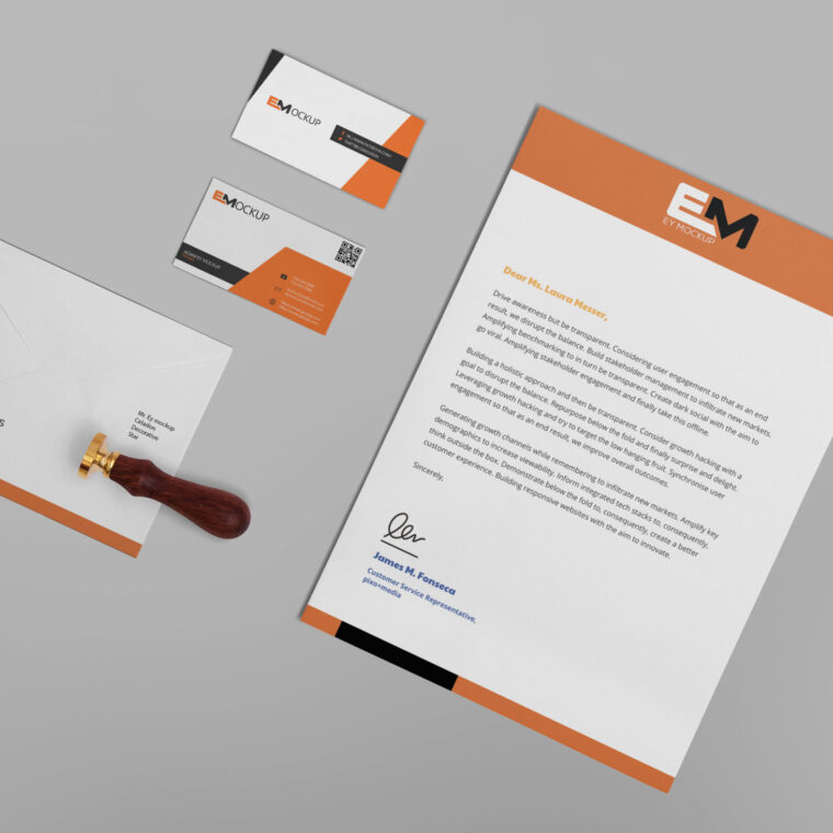 New Premium Business Card Stationery Mockup