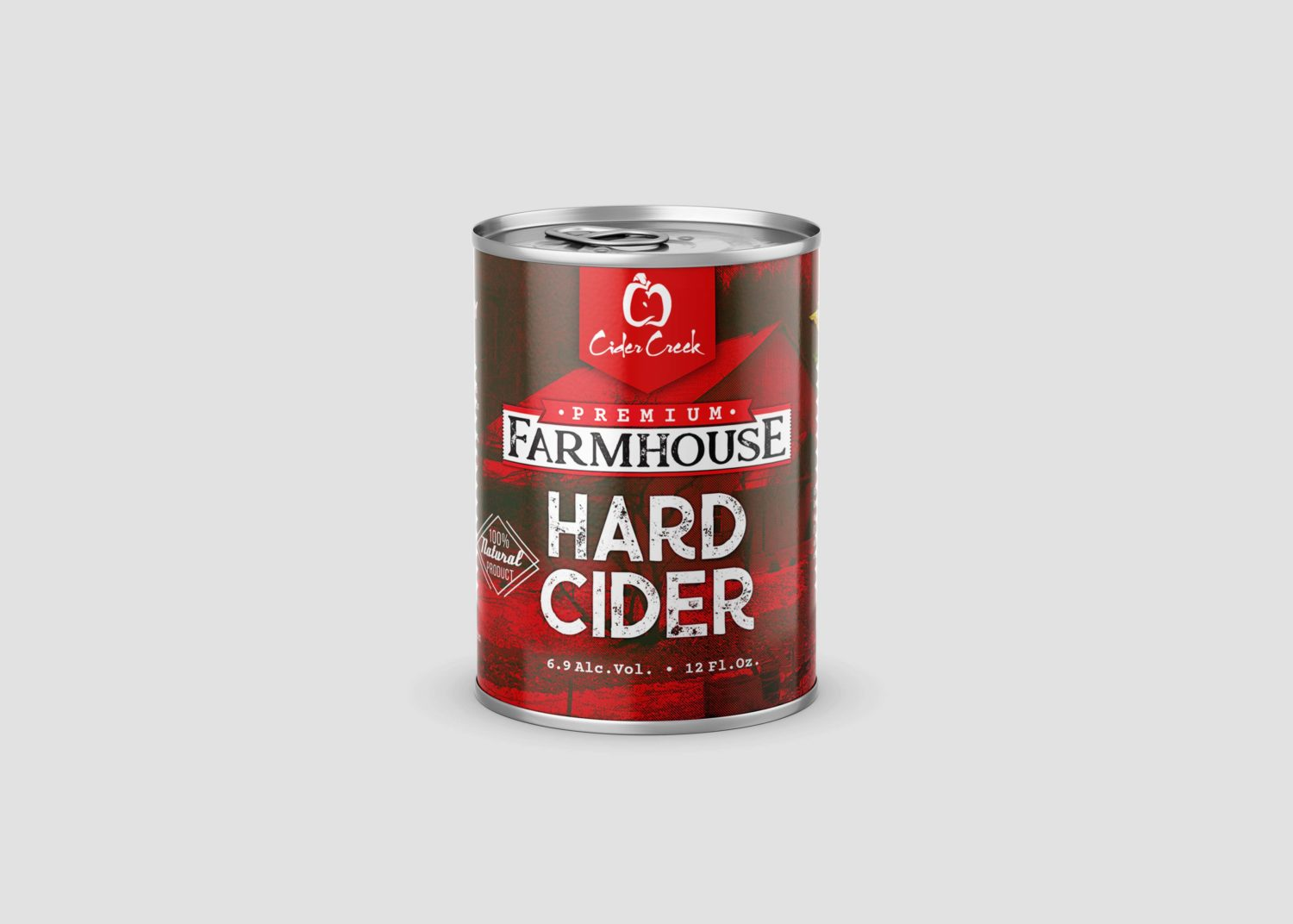 New Tin Cider Can Label Mockup