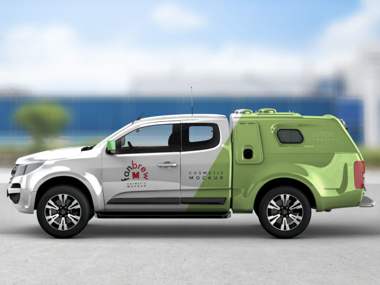Pickup Truck Wrap Design Mockup