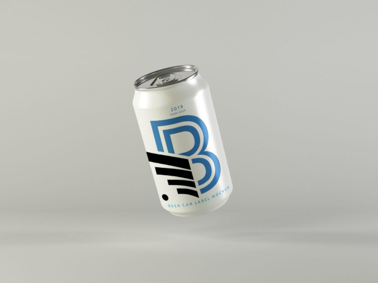 Premium New Beer Can Mockup