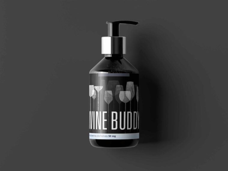 Prime Cosmetic Spray Bottle Label Mockup