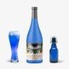 Blue Coffee Beans Wine Bottle Label Mockup