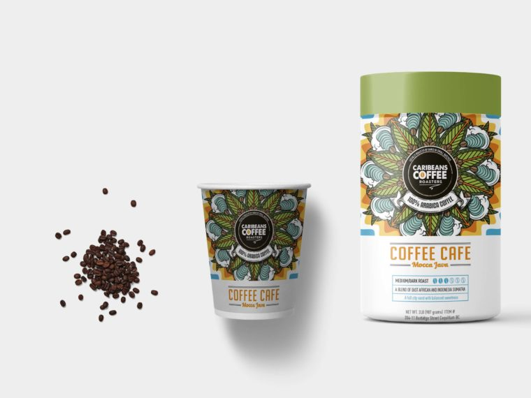 Coffee Beans Packaging Bottle Label Mockup