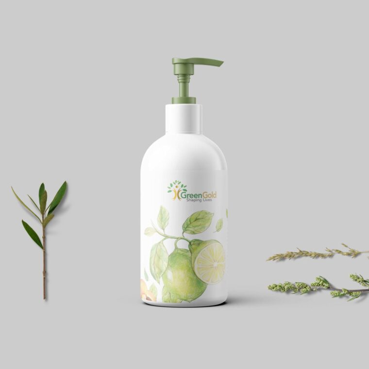 Hand Wash Dispenser Bottle Label Mockup