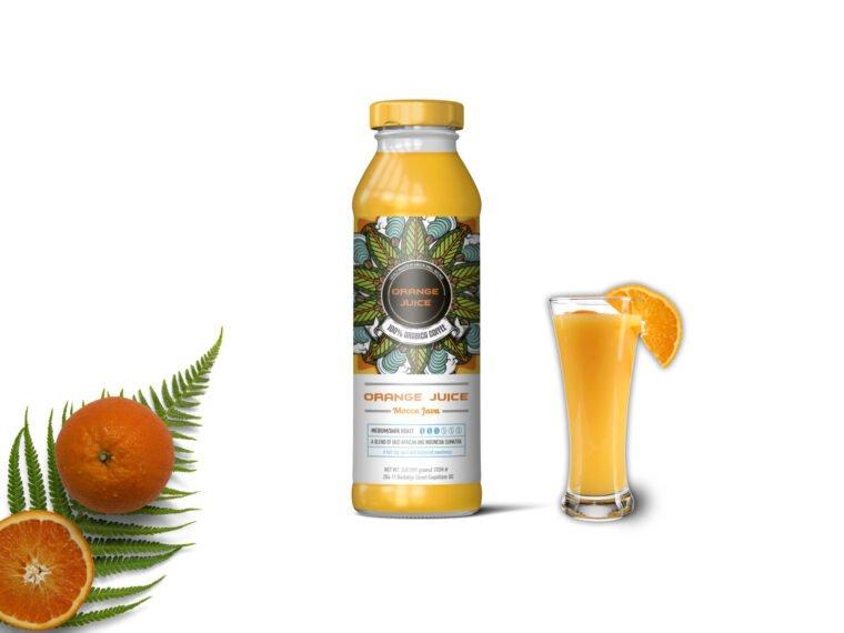 Healthy Juice Bottle PSD Mockup