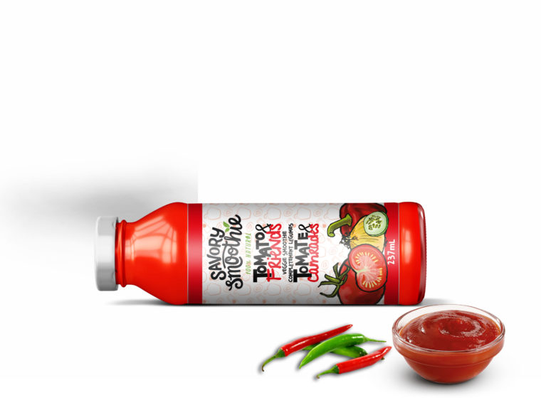 Small Tomato Ketchup Bottle Mockup