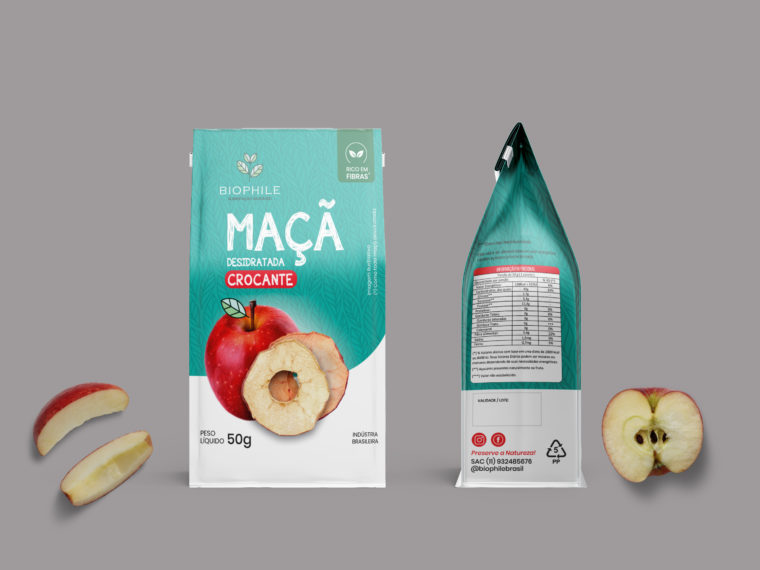 Apple Powder Pouch Label Mockup