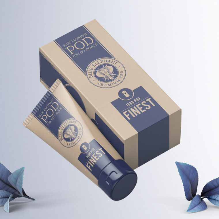 Body Cream Box Mockup