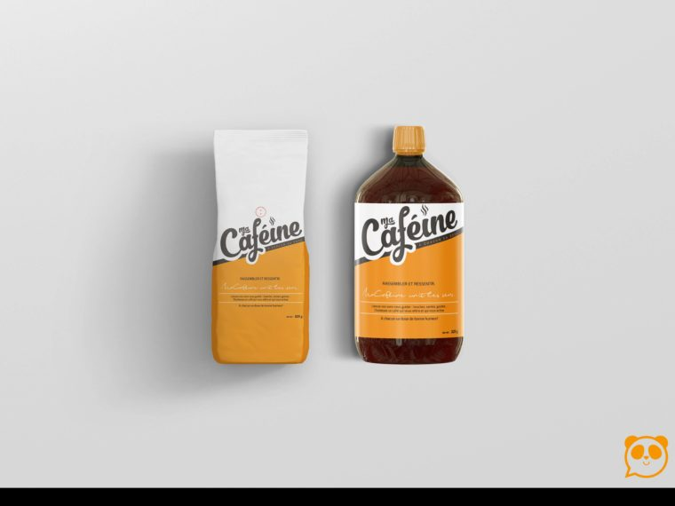 Cafeine Chemical Bottle Label Mockup