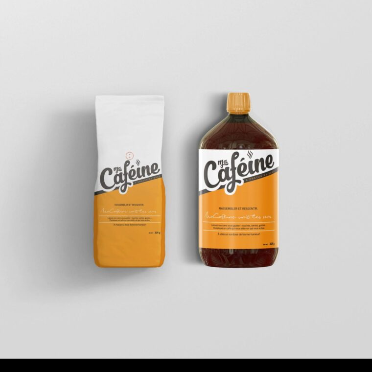Realistic Bottle Label Mockup