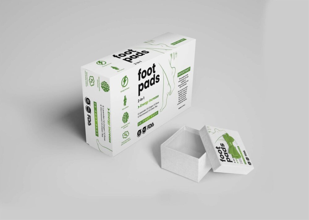 Foot Pads Packaging Mockup