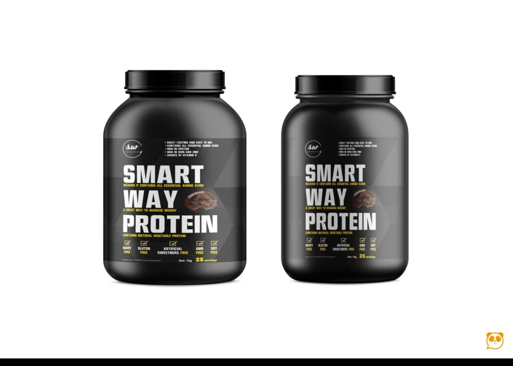 Gym Supplement Bottle Label Mockup