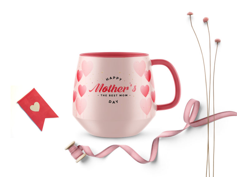 Happy Mothers Day Coffee Mug Mockup