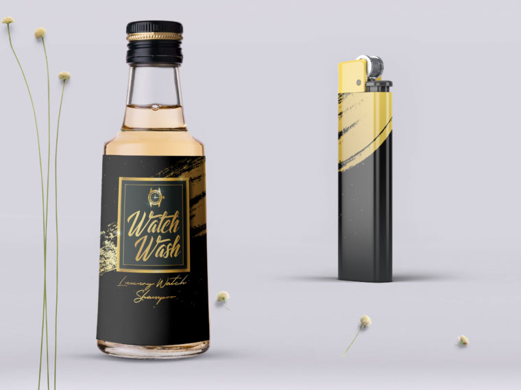 Luxury Lighter Bottle PSD Mockup