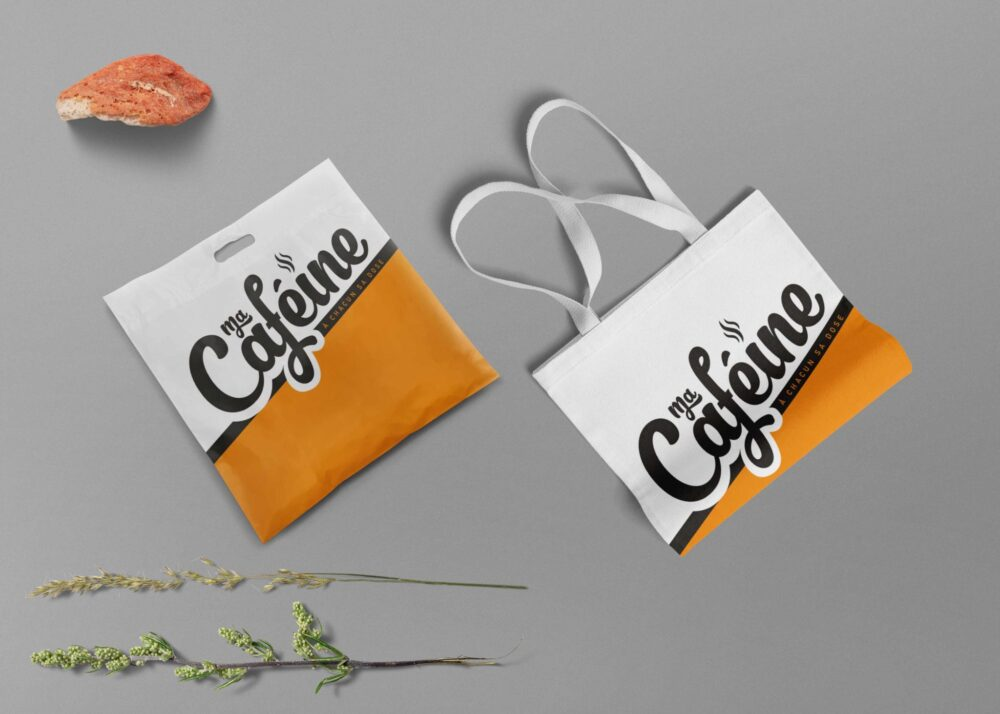 Branding Bag Label Mockup