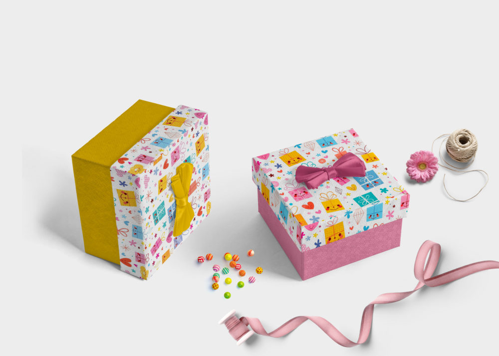 Nice Package gift box mockup