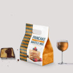 Pane Cake Packet Bag Mockup