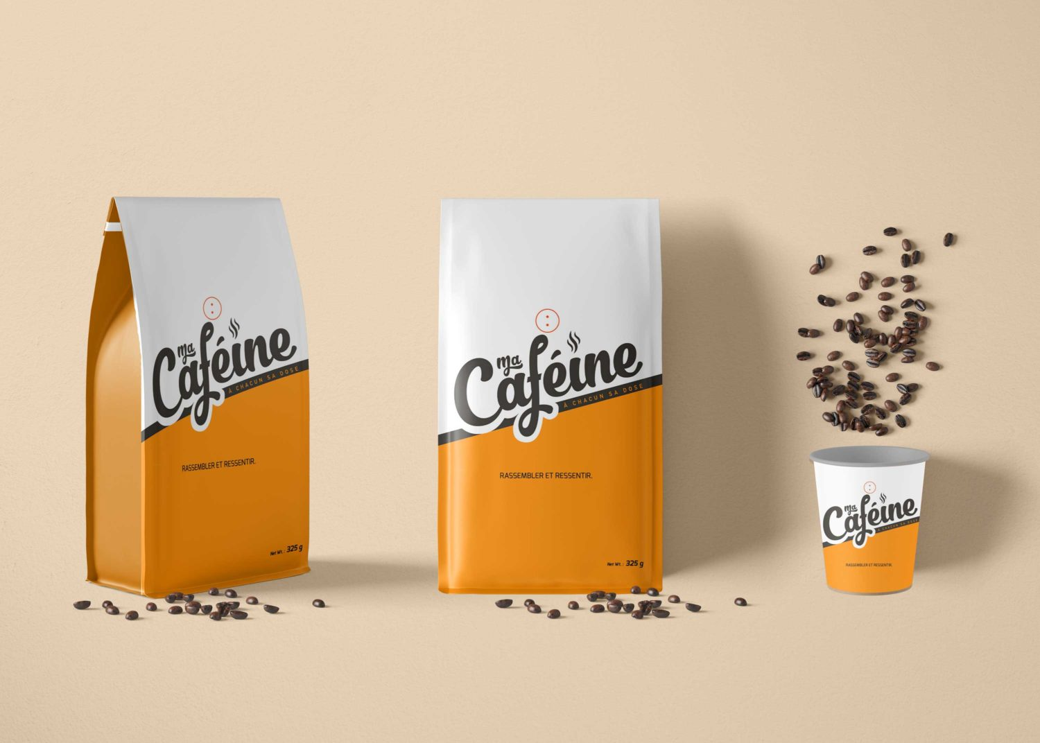 Premium Coffee Paper Pouch Packaging Mockup