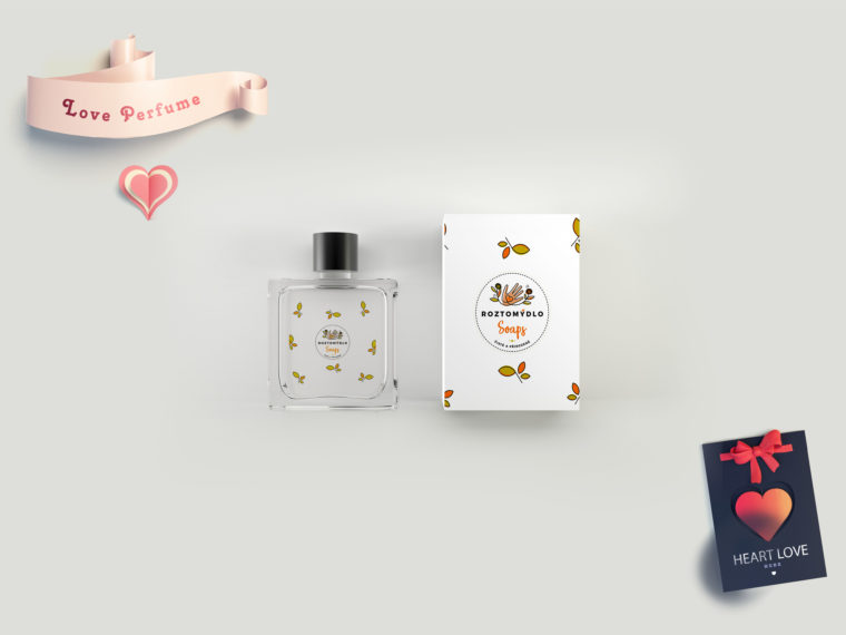 Premium Perfume Bottle Label Mockup