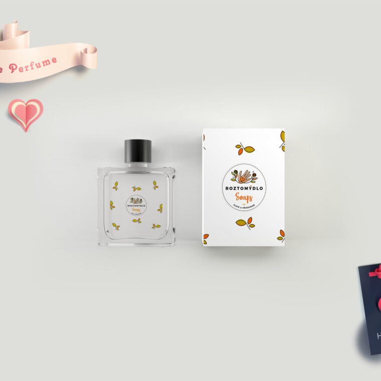 Branding Perfume Bottle Label Mockup