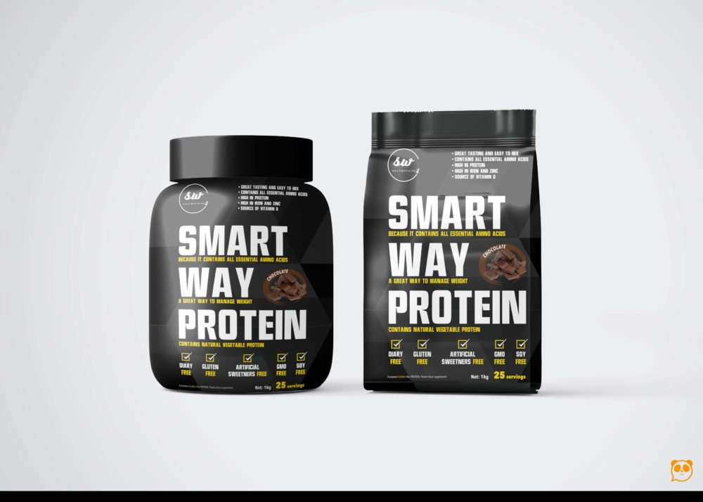Smart Supplement Protein Packaging Mockup