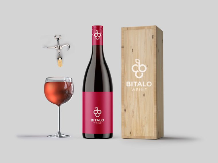 Awesome Wine Bottle Packaging Mockup Template