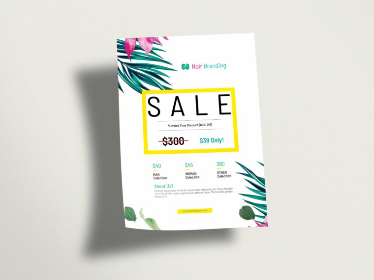 Beautiful Sale Flyer Mockup 2019