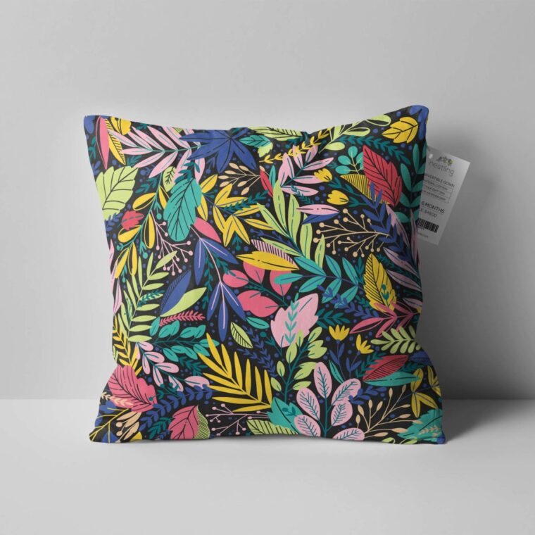 Square Pillow Designs Mockup