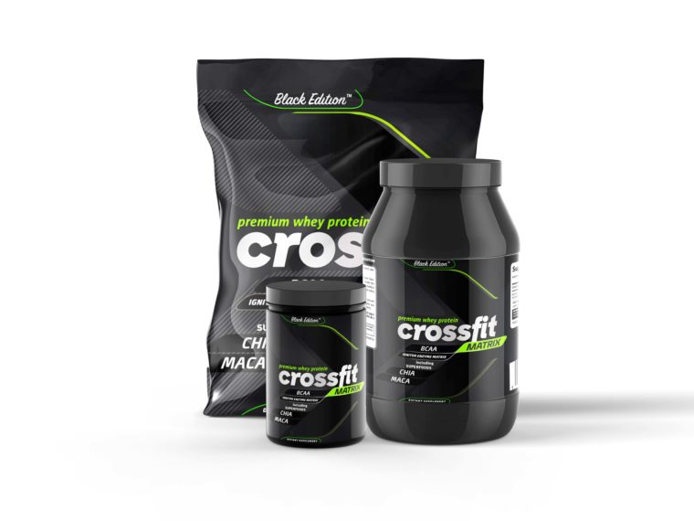 Cross Fit Gym Supplement Branding Mockup