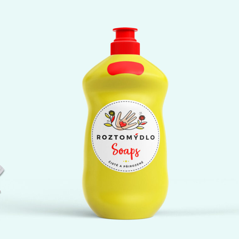 Soap Bottle Label Mockup