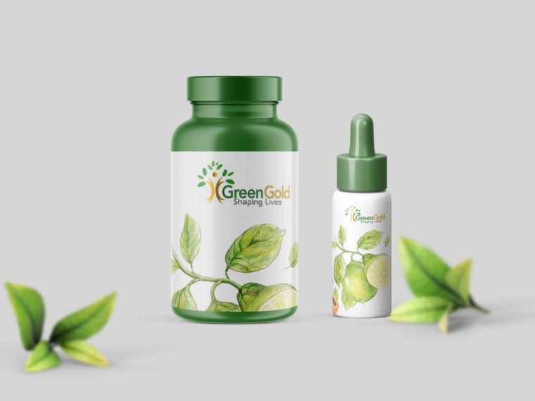 Green Dietary Supplement Mockup