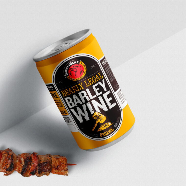 Beer Can Design Mockup