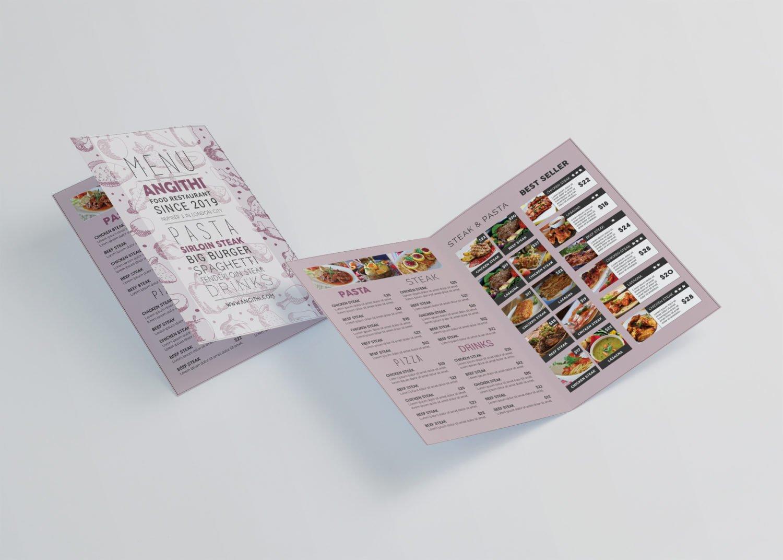 A5 Bi-fold Design Mockup