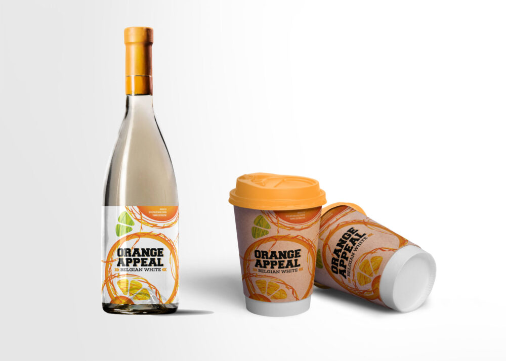 Pineapple Bottle Label Mockup