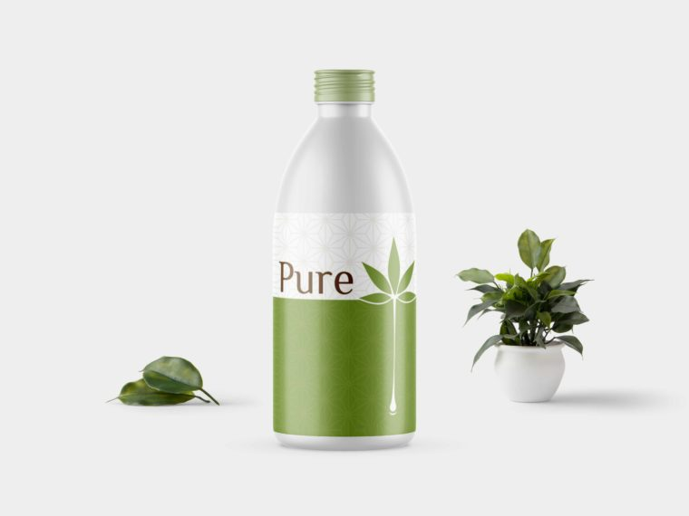 Pure Oil Bottle Mockup (2019)