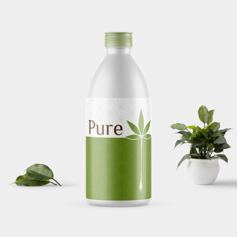 Pure Oil Bottle Mockup