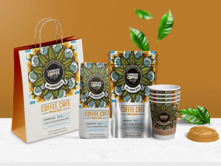 Coffee Tea Packaging Branding Mockup