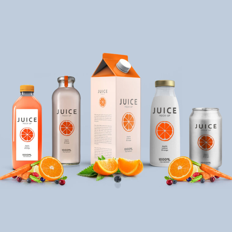 Juice Packaging Label Mockup