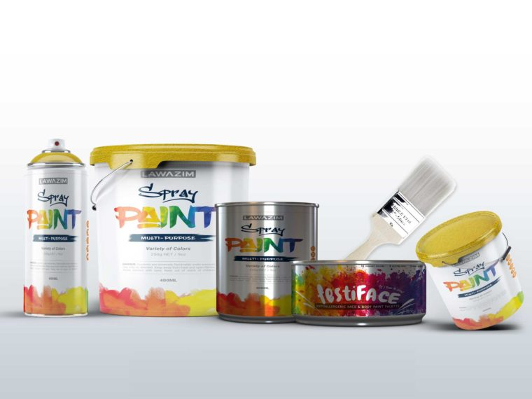Creative Paint Product Mockup